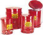 Asecos Entsorgungsbehälter rund 53 l Stahl rot