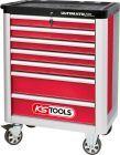 KS TOOLS ULTIMATEline Werkstattwagen mit 7 Schubladen rot/silber