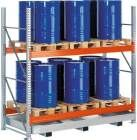Meta Palettenregal Gefahrstoff Grundfeld B1970xT1100xH2700 2 Ebenen