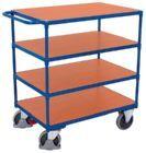 Variofit Schwerer Tischwagen mit 4 Ladeflächen 1390x800x1235mm