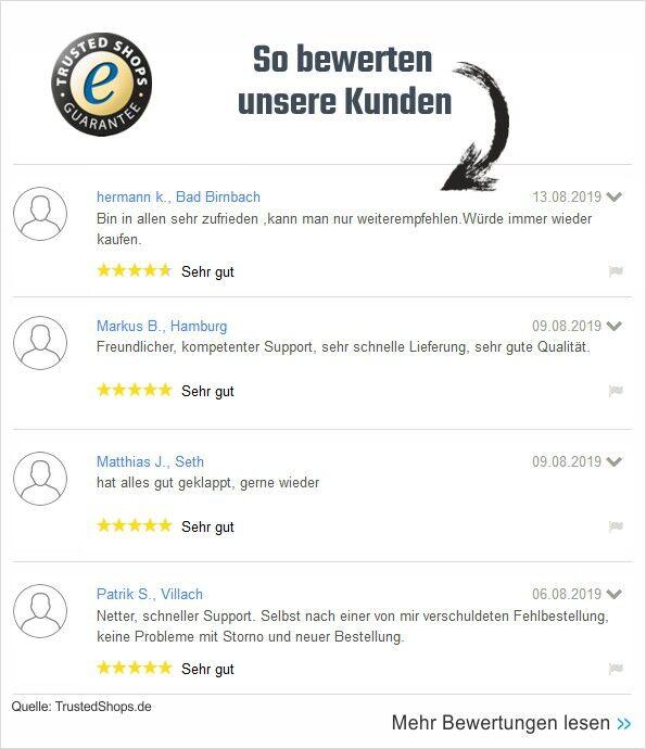 Trusted Shops Kundenbewertungen für J-Kesselshop.de